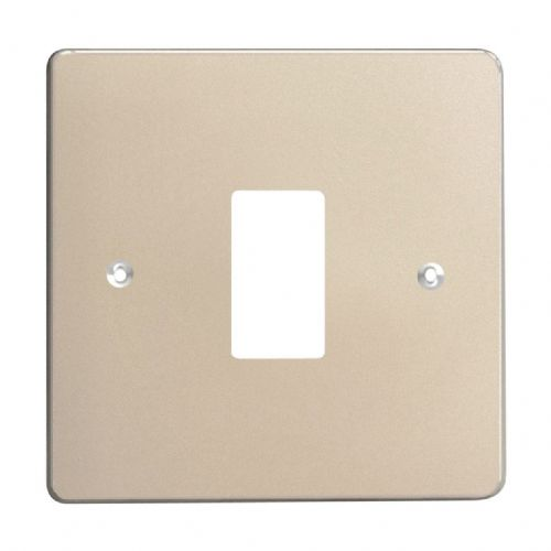 Varilight XDNPG1 PowerGrid Satin Chrome 1 Gang Grid Plate (Single Plate)